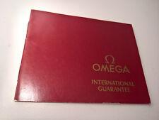 ULTRA RARE VINTAGE 1987 OMEGA SPEEDMASTER 861 GUARANTEE OPEN PAPER