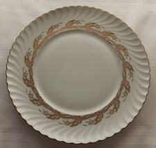 Royal Tettau Germany Pink Gold Leaf Scalloped Edge Dinner Plate(s) 10 3/4""