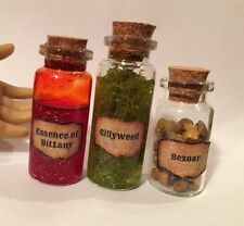 AMERICAN GIRL DOLL POTION BOTTLES FOR HARRY POTTER FANS Gillyweed Bezoar Dittany