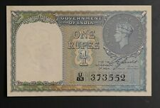 Reserve Bank of India Wwii-era 1940 1 Rupees Note Pick 25A Uncirculated