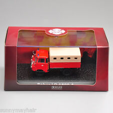 Robur LO 1800 A Fire Truck Altas Diecast Military Vehicles 1/72 Alloy Red Car