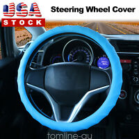 Silicone Car Steering Wheel Cover for Car Truck Van SUV Blue Auto Protector US