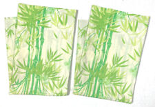 Pacific Vintage Set Pair 2 Percale Pillowcases Green Yellow Bamboo Floral Print