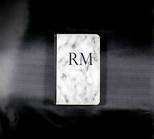 passport holder. Personalised with any initials. Marble background.