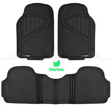 Motor Trend Car Rubber Floor Mats 3 Pieces Set Heavy Duty All Weather Liner