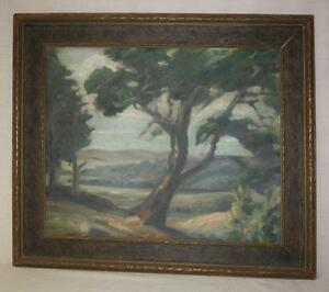 Antique Landscape Oil Painting of Bartlesville, Oklahoma, Signed Circa 1920