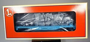 Lionel O Scale 6-36091 Maersk Flat Car W/ 2 Tractors Blue 71-7910-200 1996