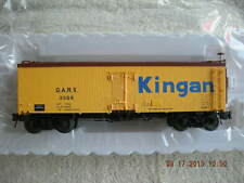 3001413 Kingan 36' Wood Side Reefer Car 3 Rail NEW IN BOX