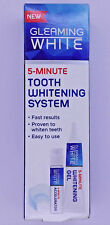 TOOTH WHITENING SYSTEM GLEAMING WHITE TEETH 5-MINUTE 13ml + 6ml + MOUTH TRAY NEW