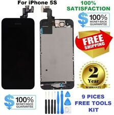 LCD Fits For iPhone 5S Black Screen Replacement Digitizer Assembly Free Tools