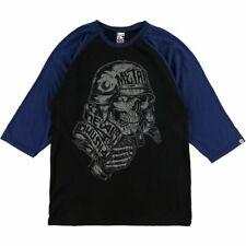 NWT Metal Mulisha Men's Covered Raglan Black/Blue 3/4 Sleeve T-Shirt Size Medium