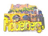 Heidelberg Burg Neckar Holz Magnet Souvenir Germany