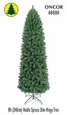 8ft Eco-Friendly Oncor Slim Noble Spruce Christmas Tree