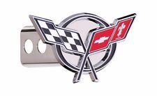 """Chevrolet Corvette C5 3D Emblem Trailer Hitch Cover Plug Cap 2"""" Post OEM"""