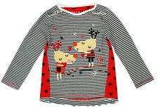 Camisetas y tops de niña de 2 a 16 años de manga larga multicolor 100% algodón