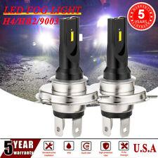 2X H4 9003 HB2 LED Fog Light Bulbs Driving Lamp DRL Lamp 6000K White Headlight