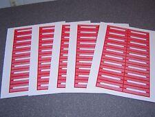 100 Blank Red Juke Box Labels Jukebox  FREE S&H