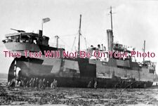 CO 493 - U.S Armed Freighter S.S Lake Harris, Mounts Bay, Penzance, Cornwall WW1