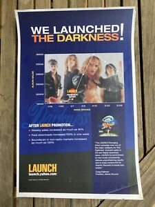 """The Darkness - We Launched industry sales 11""""x17"""" 2004 promo poster yahoo.com"""