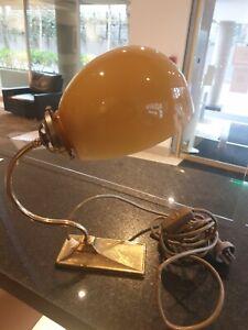 vintage  Banker Desk Table Lamp Light Brass