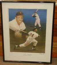 Willie Mays NY/SF Giants Signed Limited Edition Artist's Framed Poster Print-JSA