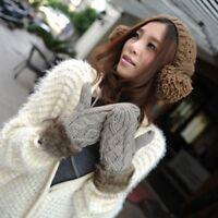 Women Winter Lovely Warm Knit Mittens Gloves