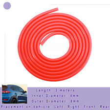 Red Air Silicone Tube Hose Pipe High Temp Vacuum Engine Dress up 3 Meters 4MM