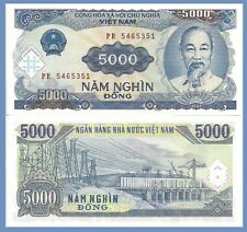Viet Nam P108, 5000 Dong, Ho Chi Minh / Hydroelectric power station, dam $3 CV
