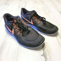 Nike Free 5.0 Womens Sz 9 Black Orange Blue Running Training Shoes Sneakers