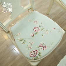 French Country Cottage Shabby Chic Fl Green Chair Seat Pad Mat Cushion