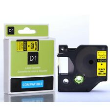 Compatible Dymo D1 Black on Yellow 12mm x 7m Label tapes (45018) VAT included