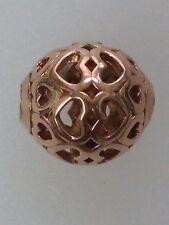 Genuine Thomas Sabo Silver, Rose Gold Plated Karma Bead K0018 - Hearts RRP £34