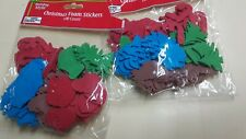 2X-CHRISTMAS FOAM STICKERS 100 count Tree Santa Assorted HOLIDAY STYLE