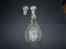 New listing Diamond Point Crystal Decanter with Two Stoppers. Indiana Glass w/ Box