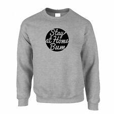 Novelty Jumper Stay At Home Bum Logo Slogan Lazy Stoner Hipster Funny Pun