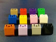 4 lego duplo 2X2 brick slope 45 purple pink brown black castle rare
