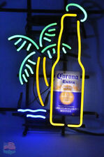 "Corona Extra Bottle Palm Tree Neon Sign 17""x13'' From USA"