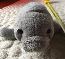 "Vintage 2001 Wishpets 11"" Grey Florida Manatee Plush Stuffed Animal ""Thea""."