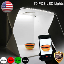 70Pcs LED Light Mini Photography Tent Mini Portable Folding Photo Room Kit Box