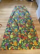 Vtg Mcm Pair Lawrence Peabody Paradise For Sears Fruits Curtains New Rare