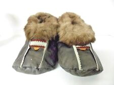 Reindeer Leather Slippers/Moccasin's Russian Handmade Unisex 8.5 W 6.5 M Rare