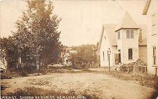 D19/ Hemlock Ohio Postcard Photo RPPC c1910 Main St Church of Christ Perry Co