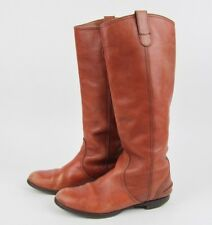 Madewell 1937 Archive Brown Leather Tall Riding Boots Womens US 8