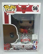 Funko Pop NBA #56 Bulls Michael Jordan Rookie Jersey Rouge Exclusive +Protector