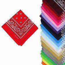 Paisley Motif Bandana Fashion Head Scarves Multicolour 12 Set Bundle 100% Cotton