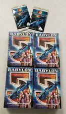 Babylon 5 CCG Premier Edition 4 Starter Decks Centauri Earth Minbari Narn 2 pack