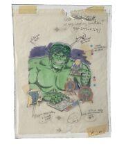 1979 Marvel Incredible Hulk Original Box Artwork Art Colorforms Rub N Play