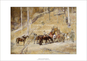 """Bailed Up A2 Print – Tom Roberts Classic 1895 – Poster 59 x 42 cm 23"""" x 17"""""""