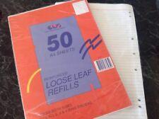 100 A4 Reinforced Loose Leaf Refills