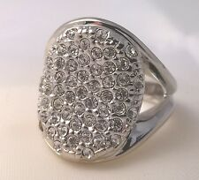 G-Filled Ladies 18ct white gold simulated diamond engagement ring wedding pave